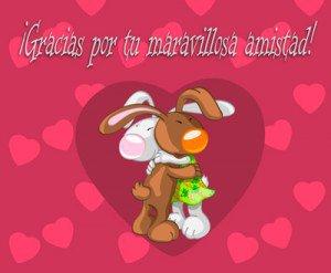 tarjeta de conejos para el día del amor y la amistad