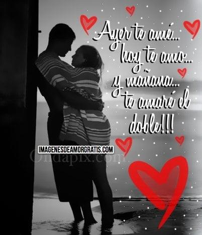 imagenes de amor con frases y corazones