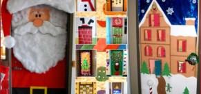 Collage puertas navidad