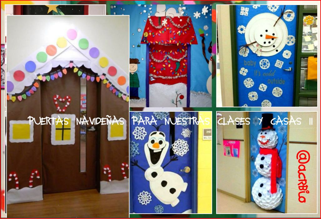 Collage puertas2 imagenes educativas for Decoracion para puertas