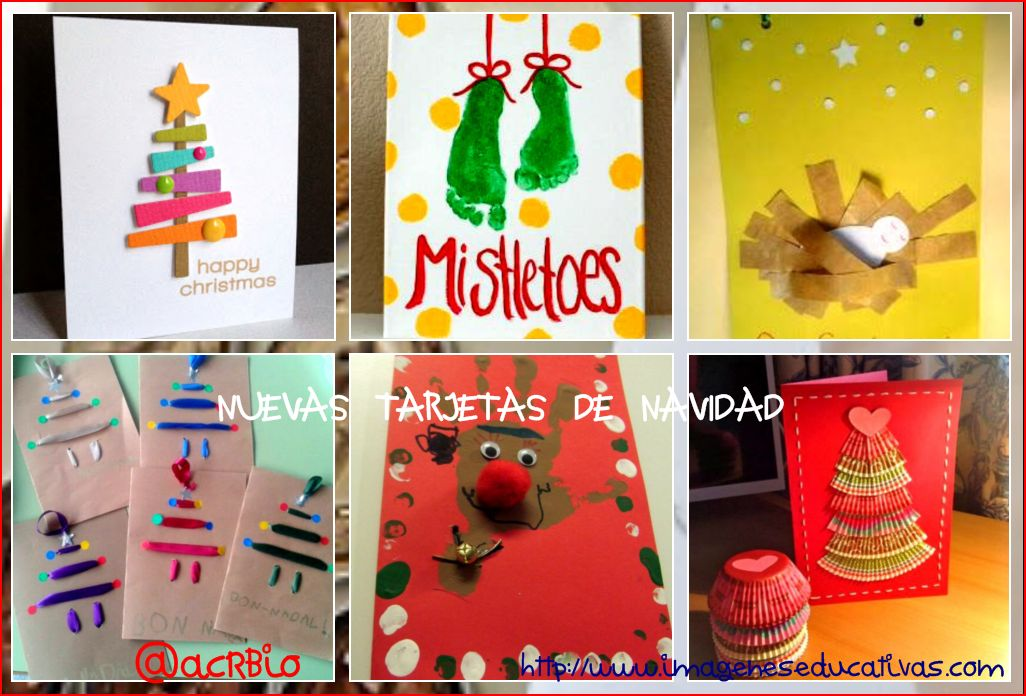 Ideas para postales de navidad infantiles