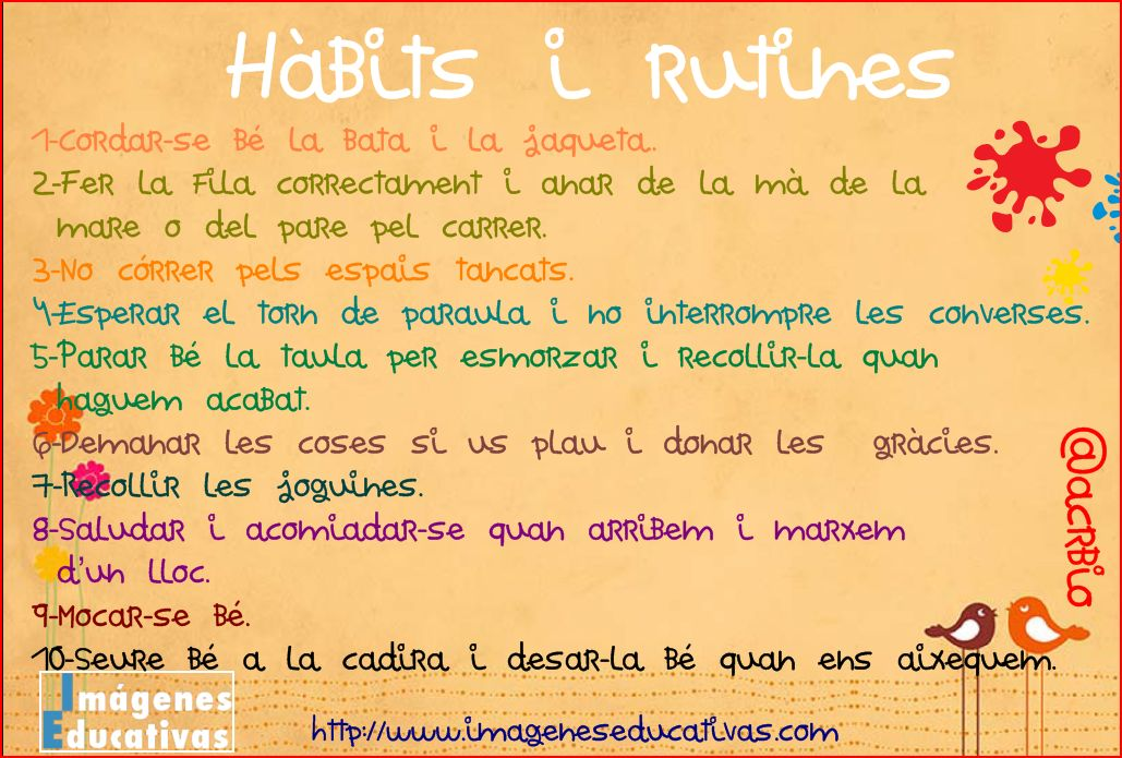 H bits i rutines imagenes educativas for 10 reglas para el salon de clases en ingles