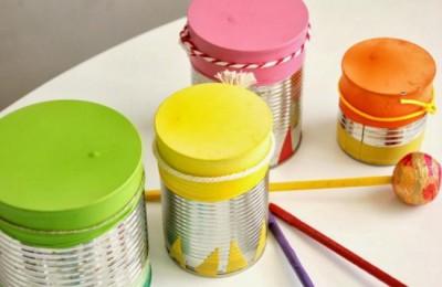 Instrumentos musicales reciclados tambor 5