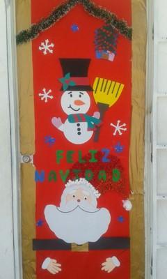 Manualidades navideñas puertas