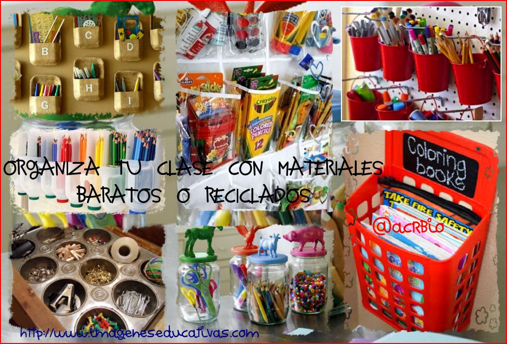Ideas Para Organizar Tu Clase Con Materiales Baratos O Reciclados Imagenes Educativas