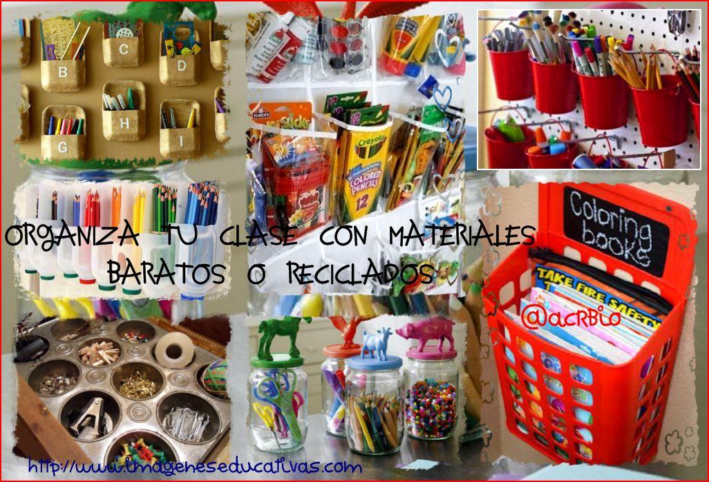 Ideas Para Organizar Tu Clase Con Materiales Baratos O Reciclados Imagenes Educativas