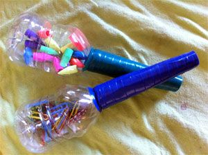 instrumentos musicales reciclados maracas 1