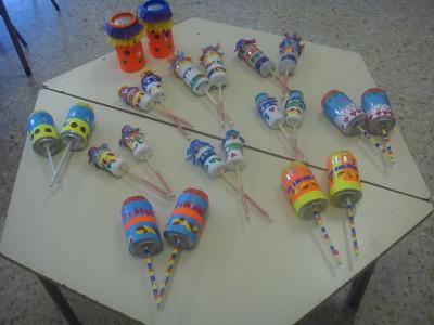 instrumentos musicales reciclados maracas 5