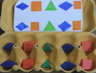 Idea para trabajar con las hueveras de cartón diferentes conceptos en preescolar 3