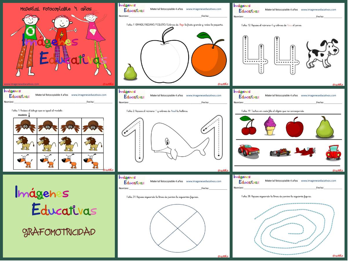 Cuadernillo de 40 actividades para 4 a os educaci n preescolar - Trabajar en comedores escolares valencia ...