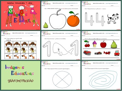 Fichas 4 años Collage