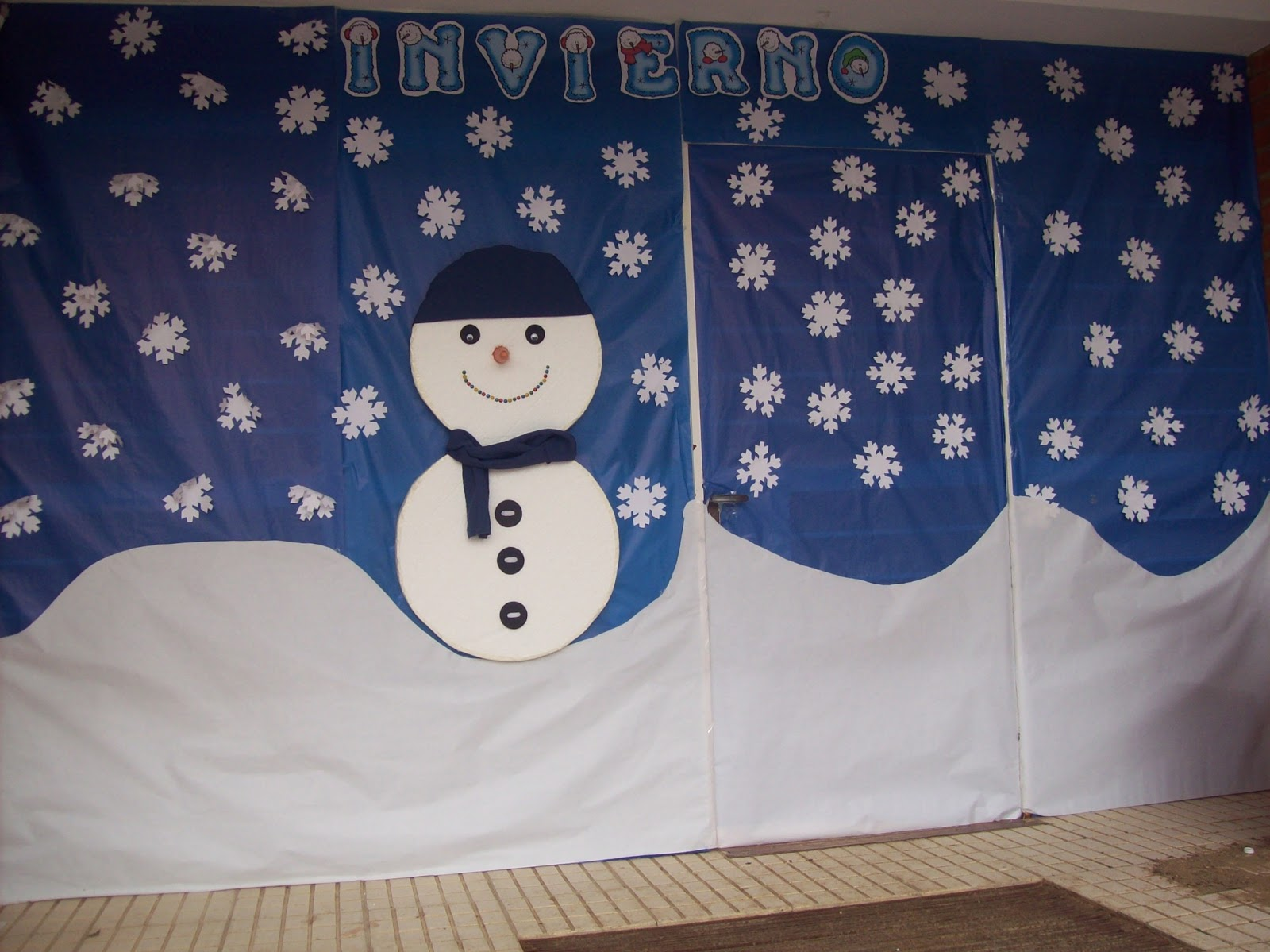 Decoramos nuestra clase con motivos de invierno