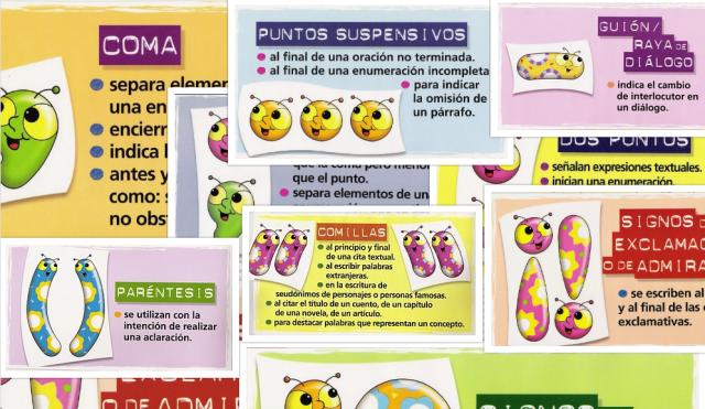 Reglas De Uso De Los Signos De Puntuación En Imágenes Ideal Para Los Mas Pequeños Imagenes Educativas