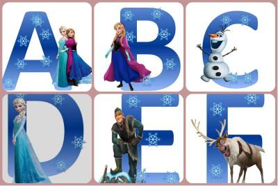Abecedario Frozen Collage