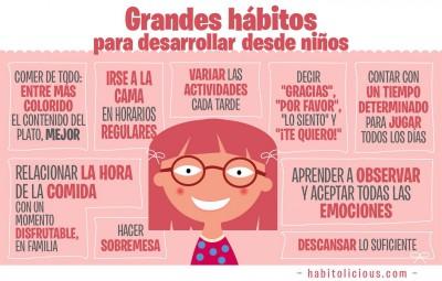Grandes hábitos para desarrollar desde pequeños en nuestros hijos e hijas