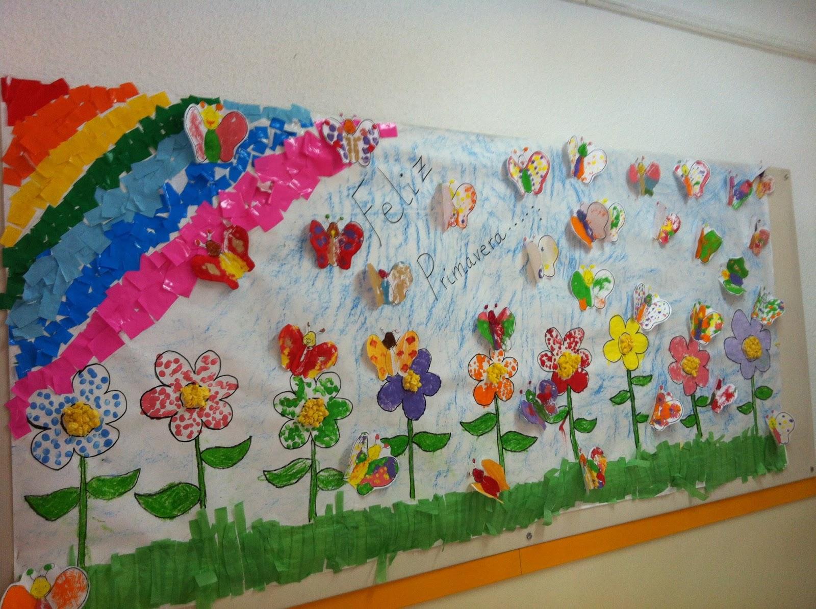 Murales primavera 3 imagenes educativas for Decoracion para puertas de preescolar