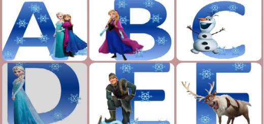 Portada Abecedario Frozen Collage