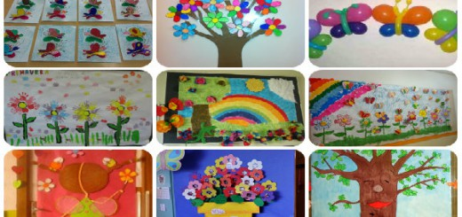 collage decoración primavera portada