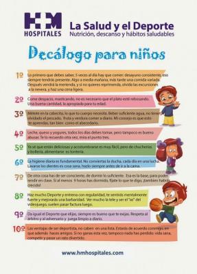Decálogo de la alimentación saludable para los niños