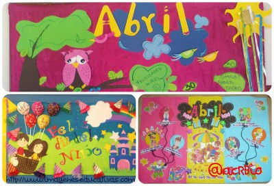Ideas para el Periódico mural del mes de abril Collage