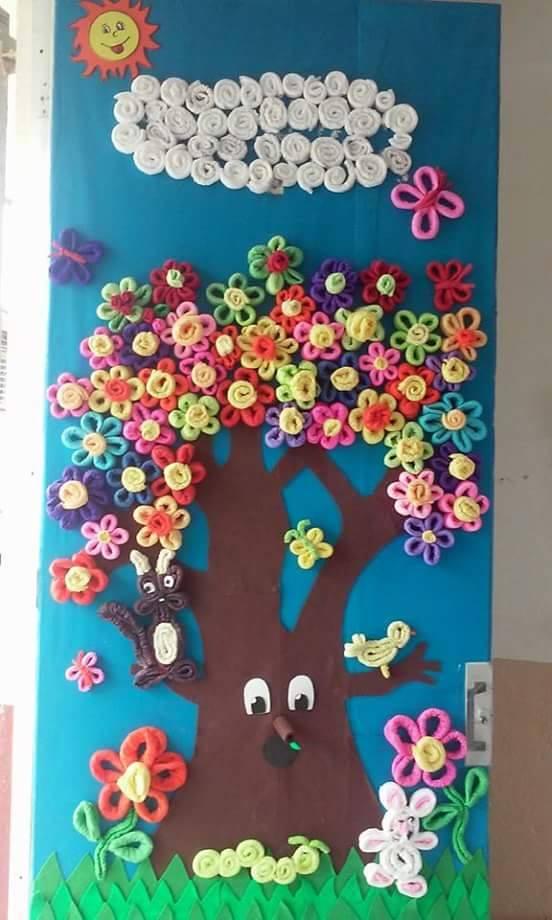 Primavera puertas 14 imagenes educativas for Decoracion de puertas infantiles