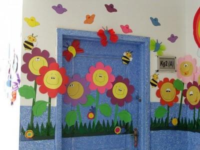 S per colecci n con m s de 100 im genes decoraci n de for Decoracion puerta aula infantil