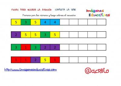 SERIES NUMÉRICAS CON COLORES 1-5 (7)