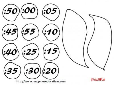 reloj - clock plantillas - templete  -  (3)
