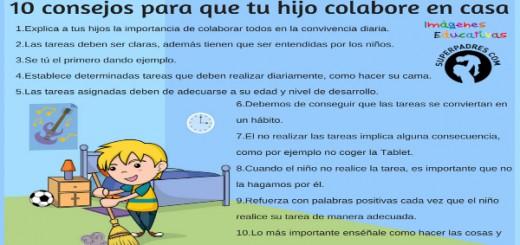 10 consejos para que los niñ@s colaboren en casa Portada