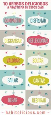 10 verbos a practicar en estos días