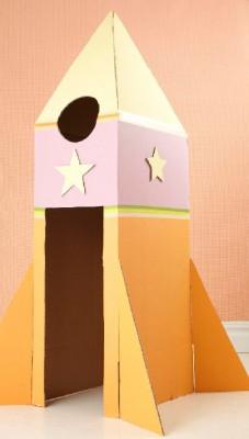 Cohete de Cartón