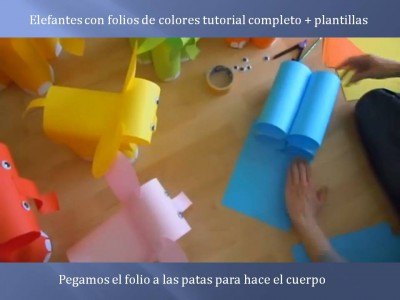 Elefantes con folios de colores tutorial (5)