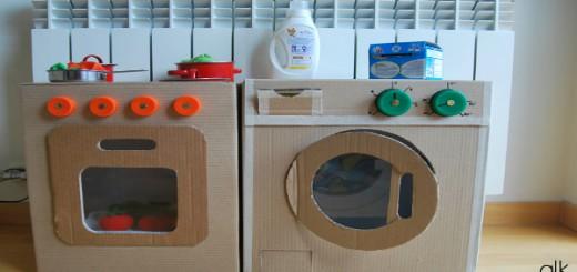 Juguetes reciclados con cajas de carton Portada