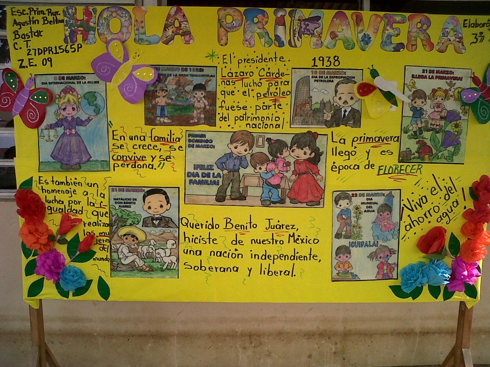 Periodico Mural Mes De Abril 11 Imagenes Educativas