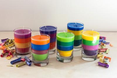 Reciclamos nuestras ceras y crayones para convertirlos en velas decorativas.  (6)