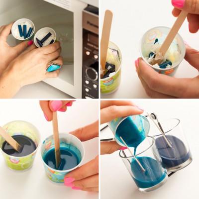 Reciclamos nuestras ceras y crayones para convertirlos en velas decorativas.  (8)