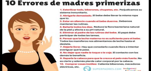 10 Errores de las madres primerizas Portada