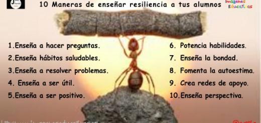 10 Maneras de enseñar resiliencia a tus alumnos Portada