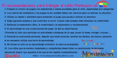 10 recomendaciones para trabajar al estilo Montessori en nuestra casa2