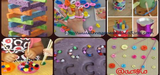 Actividades para estimular y trabajar la motricidad en infantil y preescolar Collage Portada.JPG
