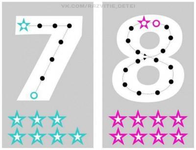 Estupenda manualidad para aprender el trazo de los números (6)
