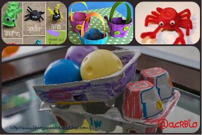 Manualidades con carones de huevos Collage