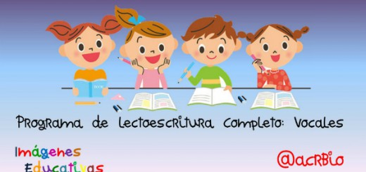Programa de lectoescritura Completo Vocales Portada