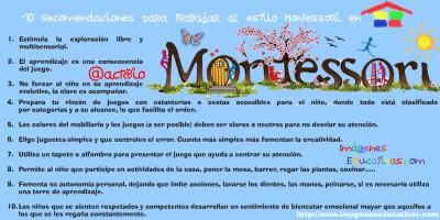 10 recomendaciones para trabajar al estilo Montessori en nuestra casa