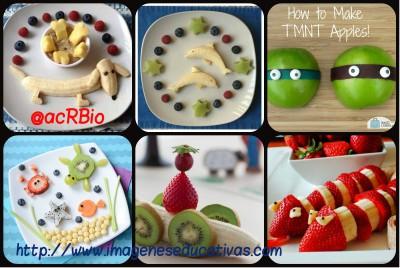 Decoraciones veraniegas para nuestros platos de fruta Collage