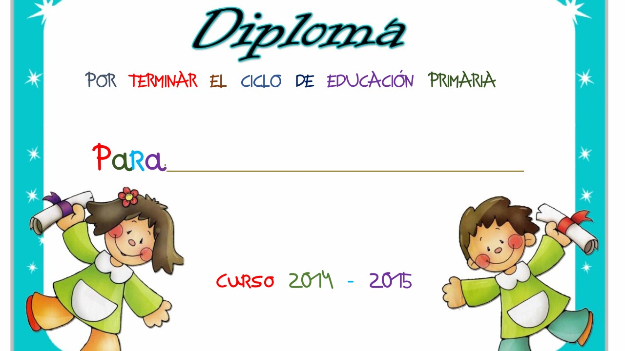 Imagenes Escolares Para Imprimir: Diplomas Fin De Curso (30)