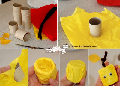 Manualidades con rollos de papel higiénico  (54)