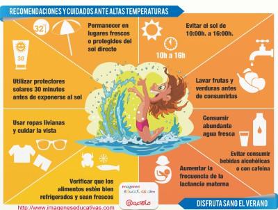 Recomendaciones y cuidados para este verano Infografía