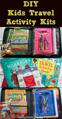 kits de viaje y organizadores de coche DIY Para viajar con niños (11)