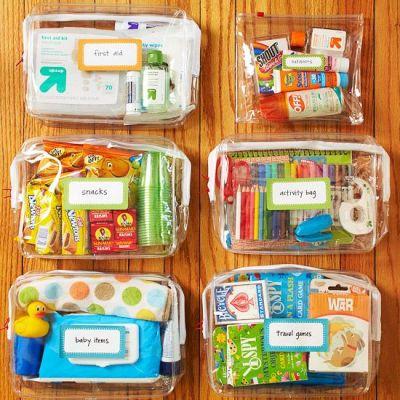 kits de viaje y organizadores de coche DIY Para viajar con niños (13)